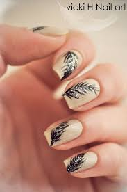 feather nail art how you can do it at home pictures designs