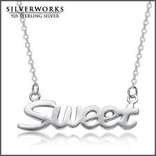 personalized name necklace sterling silver 925 sterling silver personalized name necklace custom made with