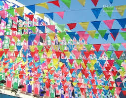 Promotion Decorations 2017 Retail Size S Length 30 Meter Mulit Colors Hang Pennant Flags