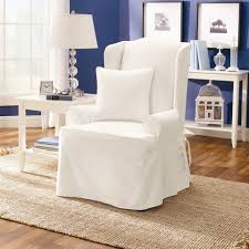 White Leather Wingback Chair Leather Wing Chair Slipcover U2014 Liberty Interior How To Wing