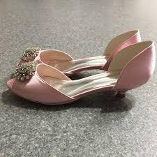 Light Pink Wedding Shoes 58 Off Shoes Favebridal Light Pink Low Heel Bridal Peep Toe
