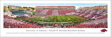gifts for razorback fans arkansas razorbacks football panoramic picture donald w reynolds