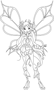 flora coloring pages flora sophix coloring page by icantunloveyou on deviantart