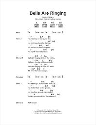 bells are ringing sheet by chapin carpenter lyrics