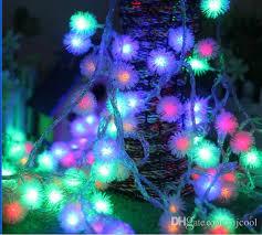 long branch tree lighting 5m40 led maomao ball battery light holiday lights christmas tree