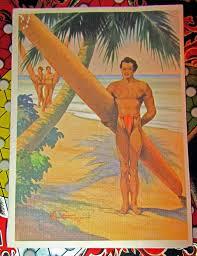 vintage hawaiian christmas card 1944 paper ephemera pinterest