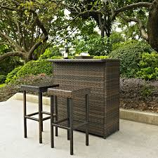 Best Outdoor Wicker Patio Furniture by Crosley Palm Harbor 3 Piece Outdoor Wicker Patio Bar Set Hayneedle