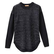 sparkle novelty sweater in jf black from joe fresh