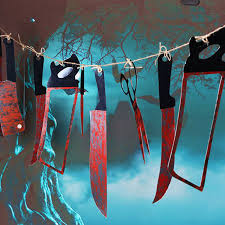 haunted house decorations decorations 12 pcs bloody knife haunted house bar 12
