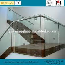 Glass Stair Handrail The Frameless Indoor Glass Stair Handrail With Stainless Steel