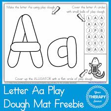 free printable shape playdough mats alphabet playdough mat letter aa your therapy source