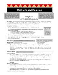 Examples Of Resume Skills List by Skill Based Resume Haadyaooverbayresort Com