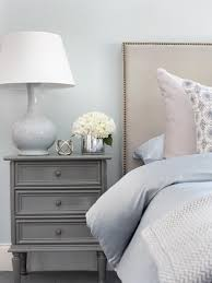 Bed And Nightstand Cool Blue Bedroom With Gray Nightstand Transitional Bedroom By