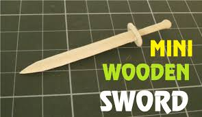how to make a mini wooden sword using a popsicle stick toy