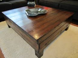 coffee table made from 100 year hardwood floor for the home