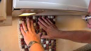 installing ceramic tile backsplash in kitchen kitchen how to install caulk on a kitchen tile backsplash youtube
