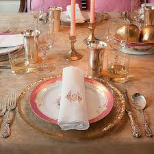 sparkling thanksgiving table setting southern living