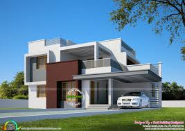 2200 square foot house beautiful flat roof home in 2200 sq ft kerala home design