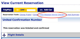 how to verify free baggage with your united credit card
