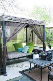patio swing makeover canopy swing canopy and swings