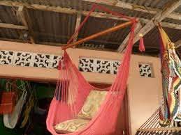 red sitting hammock hanging chair natural cotton and discovered
