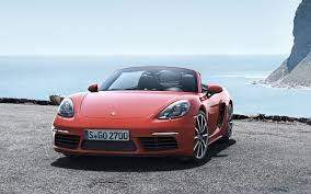 porsche 718 boxster 2017 sports car red wallpaper wallpapersbyte