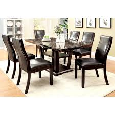 faux marble dining room table set furniture of america elivia modern 7 piece faux marble dining set