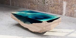 unique wood the abyss table by duffy an map in layered wood and
