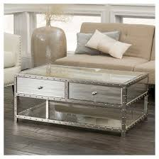 estelle mirrored coffee table jade mirrored coffee table silver christopher knight home target