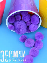 35 pompom activities toddlers love simple play ideas