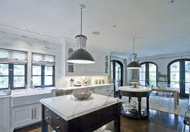 white gold double kitchen islands