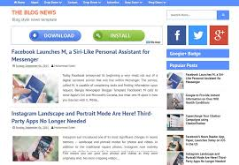 blog news blogger template free download 2018