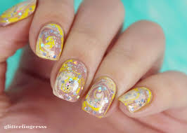 nail art dry marble glitterfingersss in english