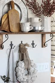 kitchen shelf decorating ideas christmas kitchen shelf the wood grain cottage