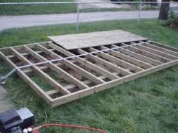 how to build a shed floor and shed foundation