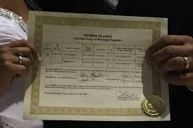 register wedding cayman islands registered marriage certificate information