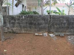 Cinder Block Decorating Ideas by How Can I Prevent This Concrete Block Wall From Falling Over