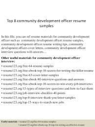 Sample Resume Logistics Coordinator by Top 8 Community Development Officer Resume Samples 1 638 Jpg Cb U003d1432299277