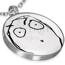 meme face charm surprised open mouth jewellery eshop eu