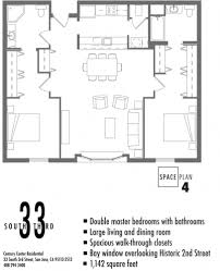 floor plans u2013 33 south third apartments downtown san jose ca