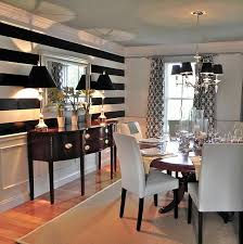 Black And White Striped Dining Chair 14 Beauty Home Designs With Black U0026 White Stripe U2013 Top Easy