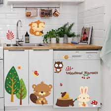 online get cheap wall decals for kitchen aliexpress com alibaba maruoxuan forest animal rabbit fox wall stickers waterproof wall decals for kitchen cupboard home decorations mural wall decor