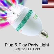 Disco Light Bulb Colored Led Bulb Crystal Headed Rotating Disco Light Blinking