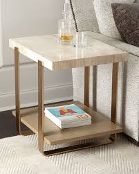 travertine top coffee table samer travertine top side table