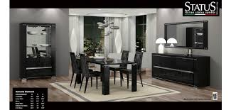 diamond black lacquered modern dining room set