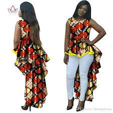 brw dashiki african wax print long dresses for women plus size