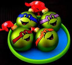 turtle glitter ornaments paint mod podge onto the ornaments