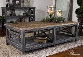 dark gray coffee table coffee table distressed dark wood modern tables diy regardi on