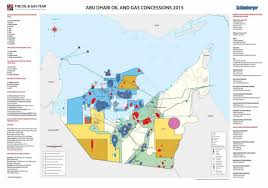 map of abu dabi abu dhabi and gas concessions 2015 the gas year