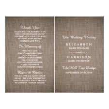 Bi Fold Wedding Program Rustic Wedding Program Flyers U0026 Leaflets Zazzle Co Uk